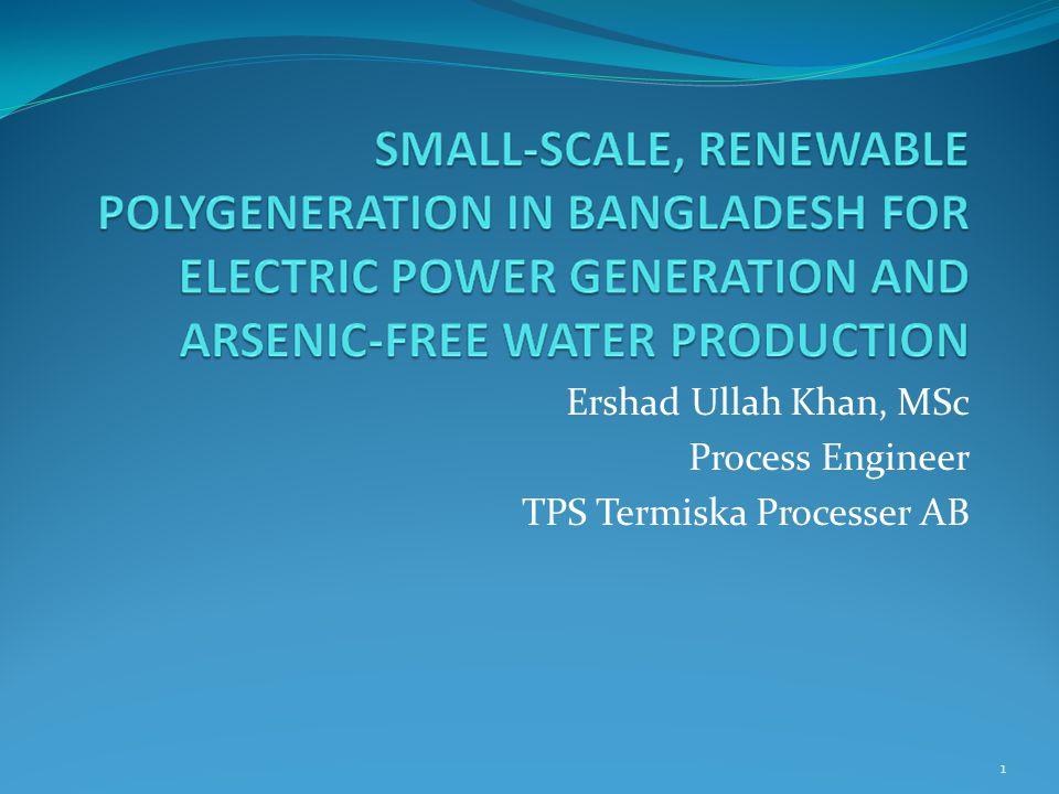 1 Ershad Ullah Khan, MSc Process Engineer TPS Termiska Processer AB