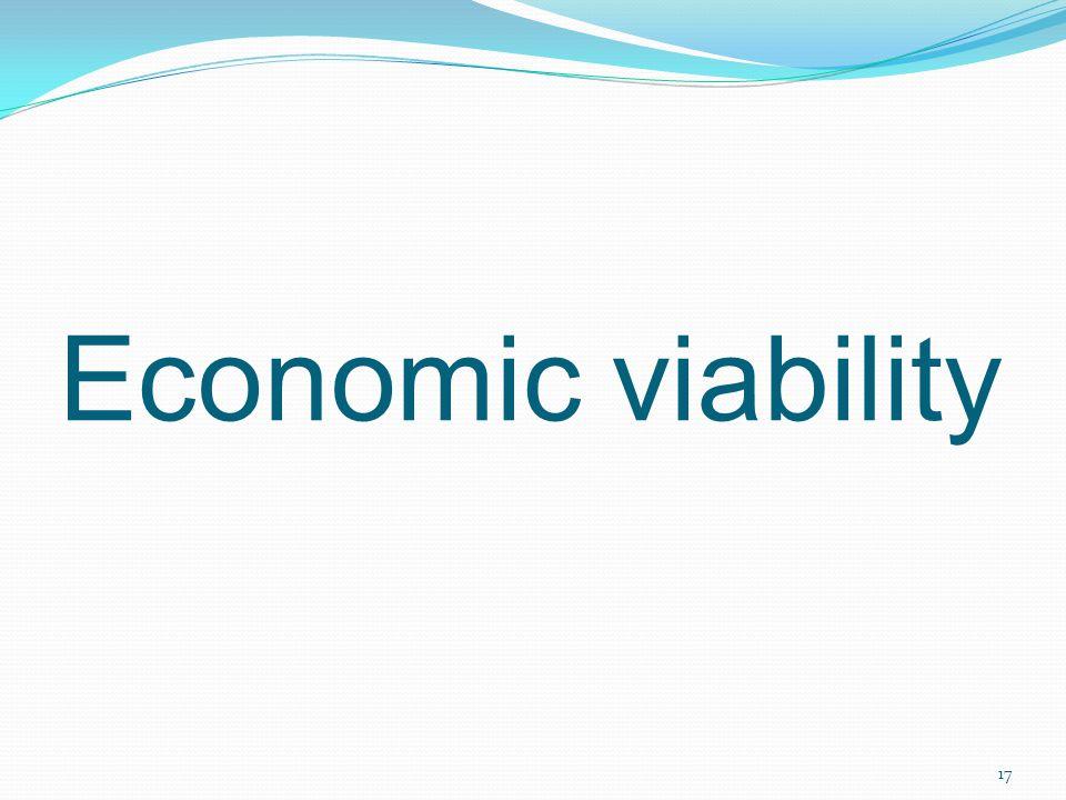 17 Economic viability