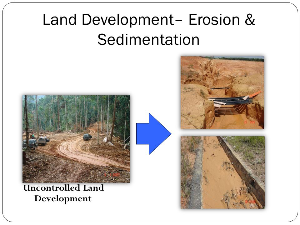 Land Development– Erosion & Sedimentation Uncontrolled Land Development