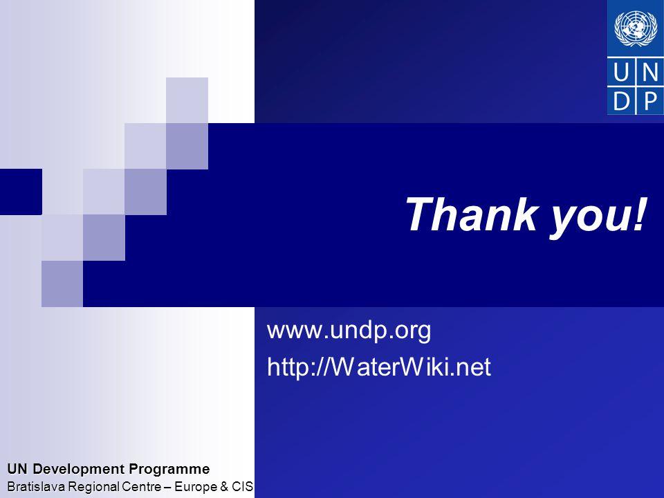 UN Development Programme Bratislava Regional Centre – Europe & CIS Thank you.