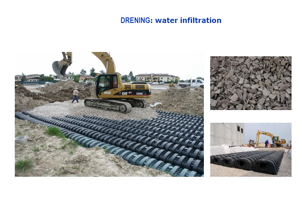 DRENING : water infiltration