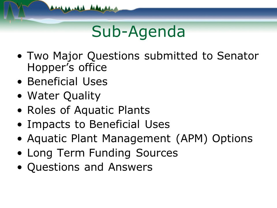 Question #1 Why isn t the DNR/Corps of Engineers being held accountable for the plan on the water level?
