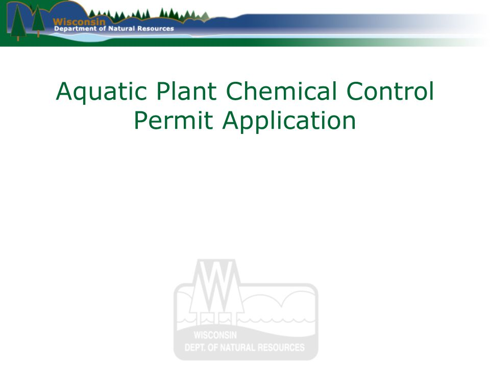 Aquatic Plant Chemical Control Permit Application