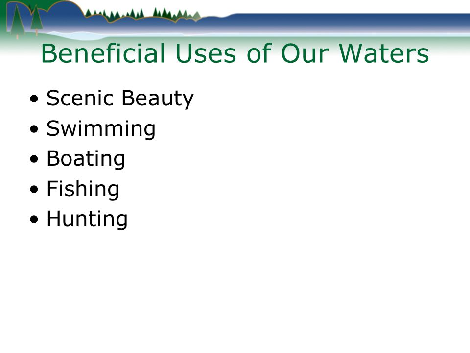 Recreational Response Bad for swimming and boating.