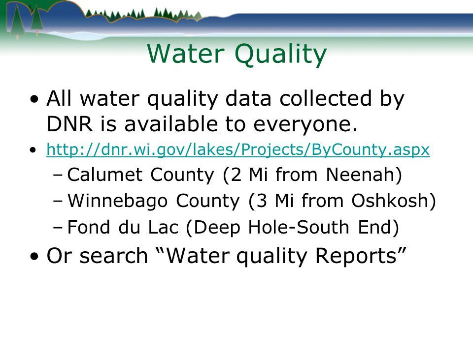 Lake Winnebago Near Fond du Lac Water Clarity 1990-2010 April through October