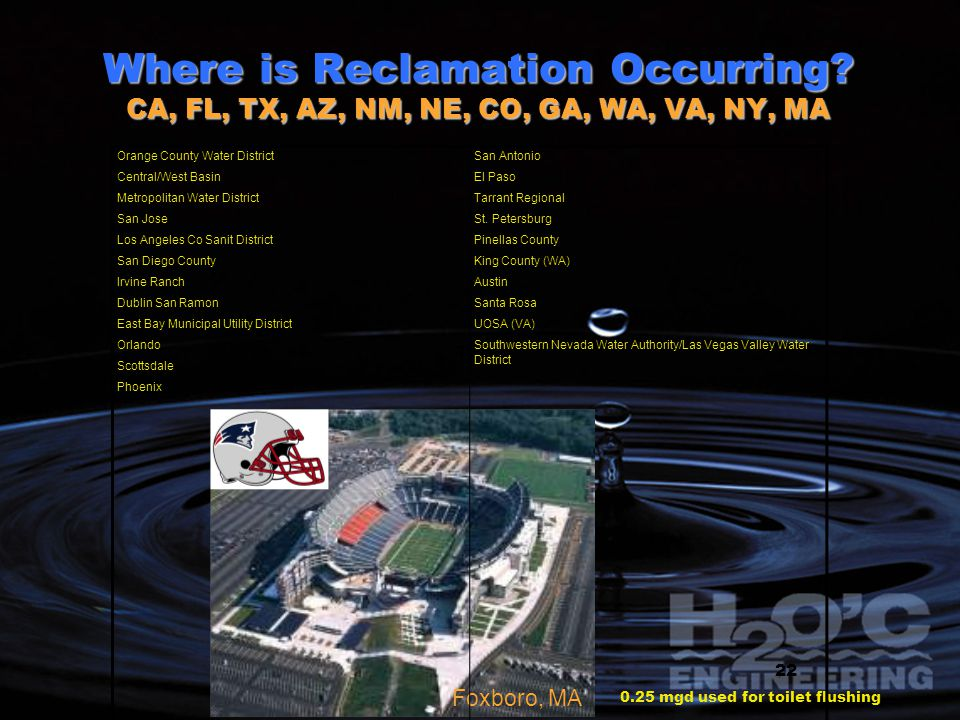 Where is Reclamation Occurring.