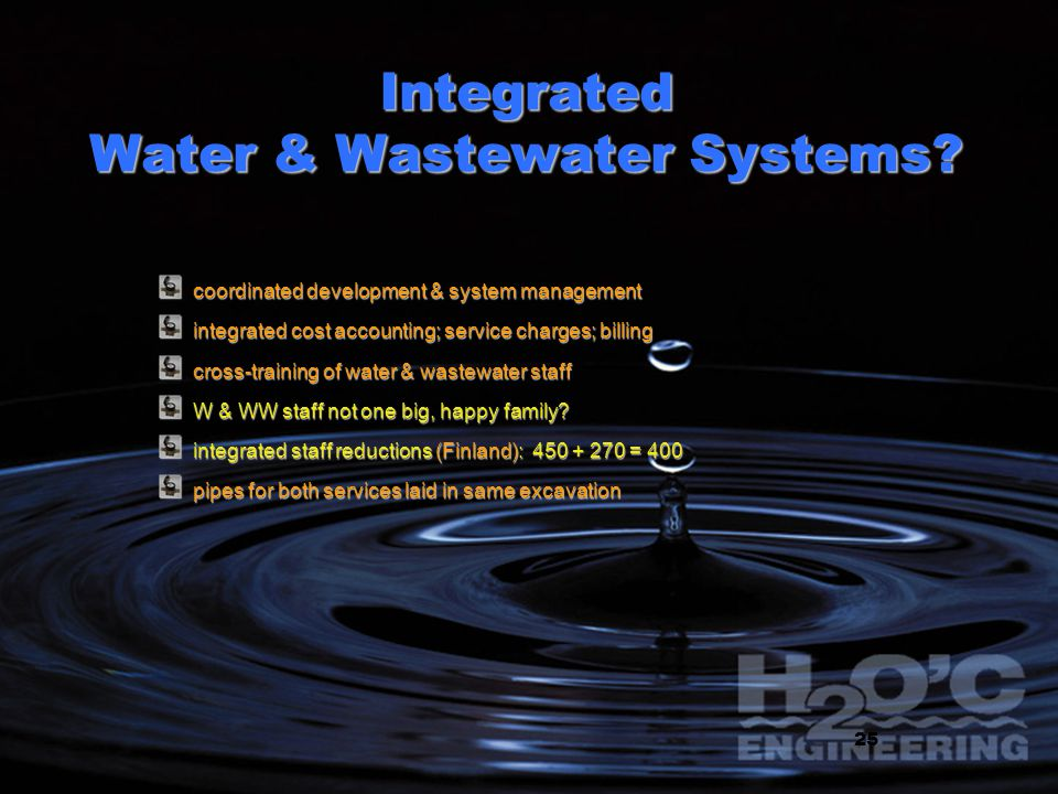 Integrated Water & Wastewater Systems.