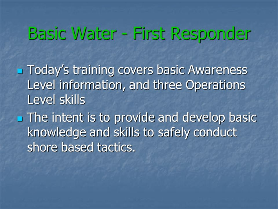 Cal OSHA Requires all personnel to wear a personal floatation device (PFD) when operating with 10 of the water, or when there is a potential to fall i