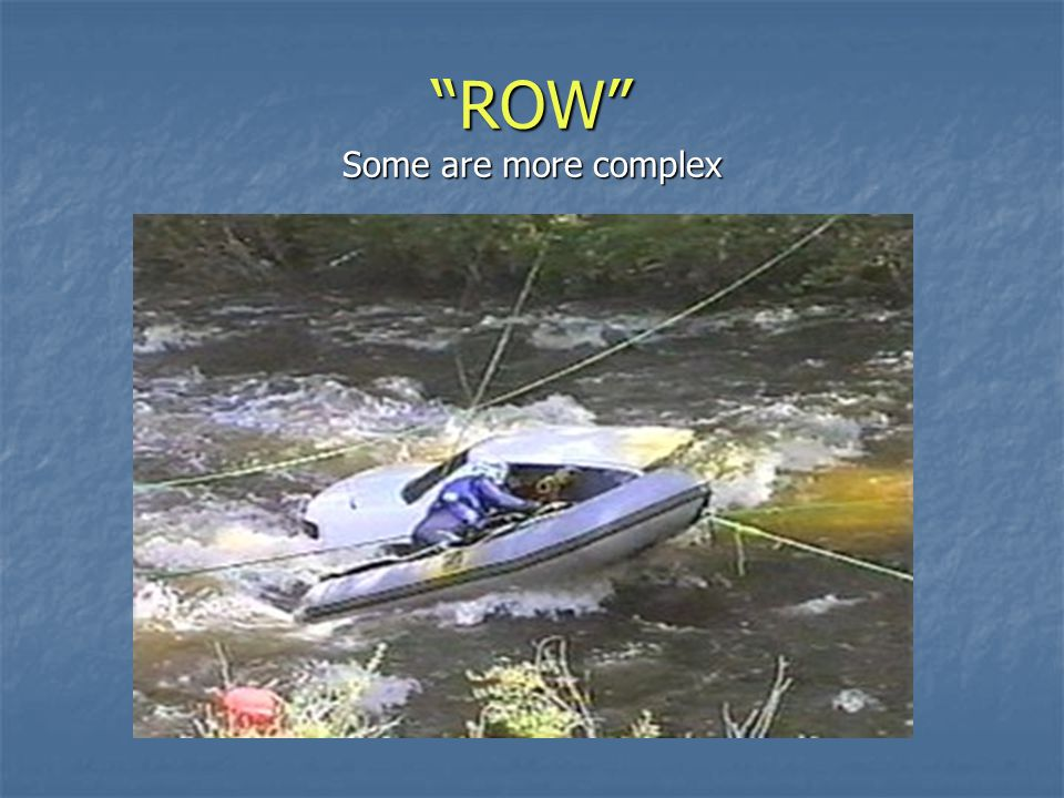 Some Row operations are simple evacuations Some Row operations are simple evacuations