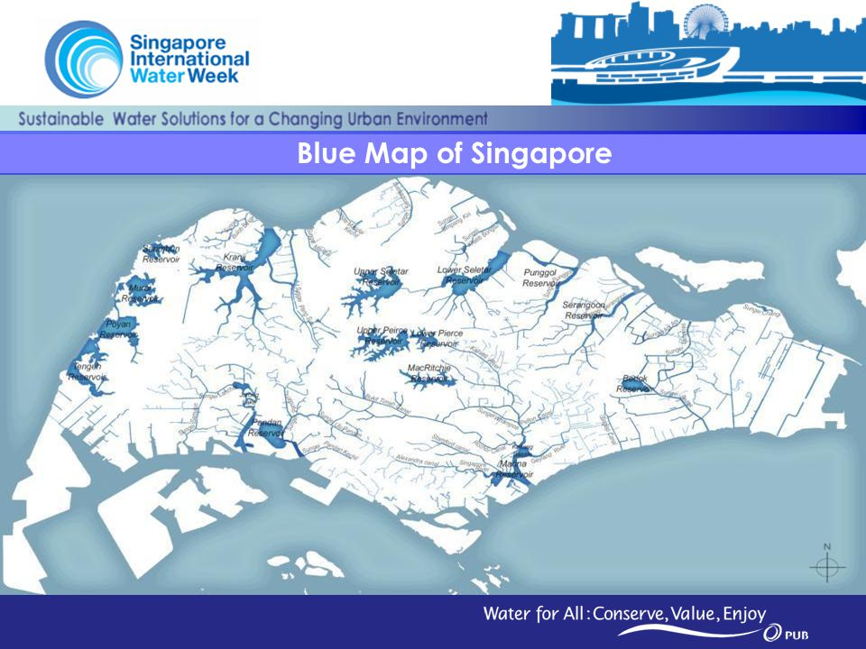 22 Blue Map of Singapore