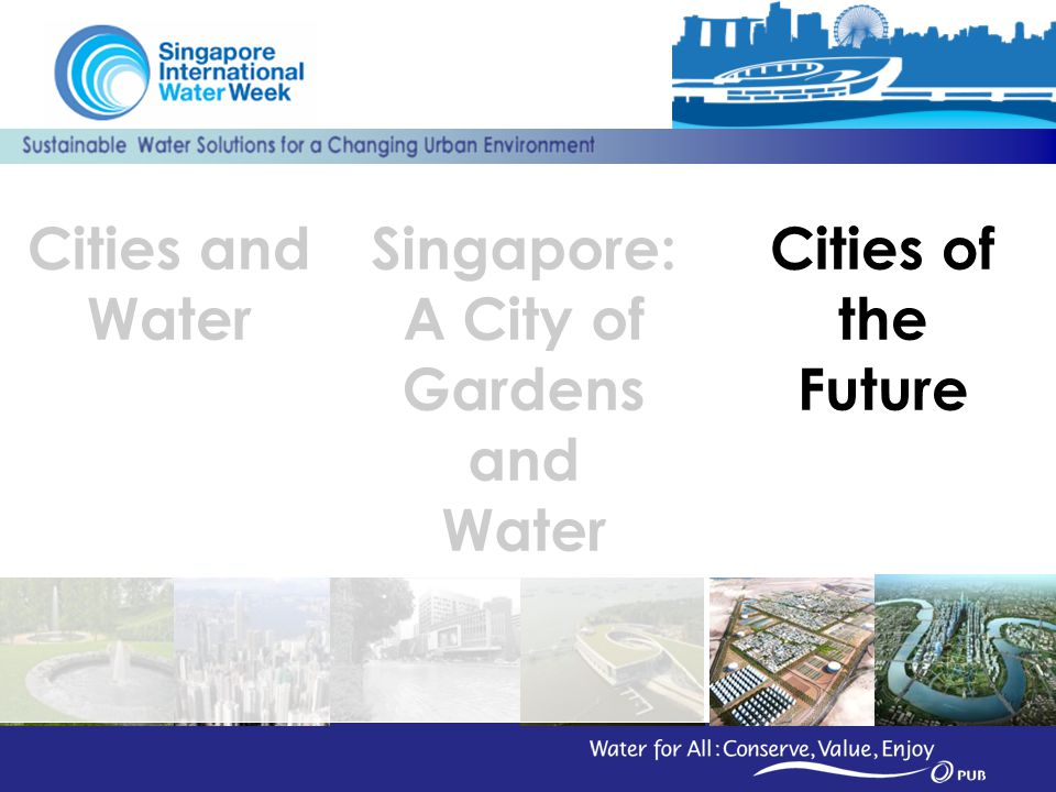 31 Cities of the Future Cities and Water Singapore: A City of Gardens and Water