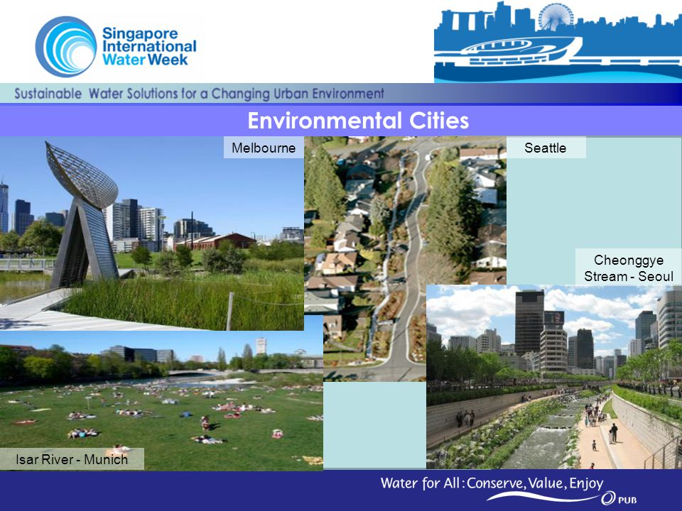 7 Environmental Cities Melbourne Isar River - Munich Cheonggye Stream - Seoul Seattle