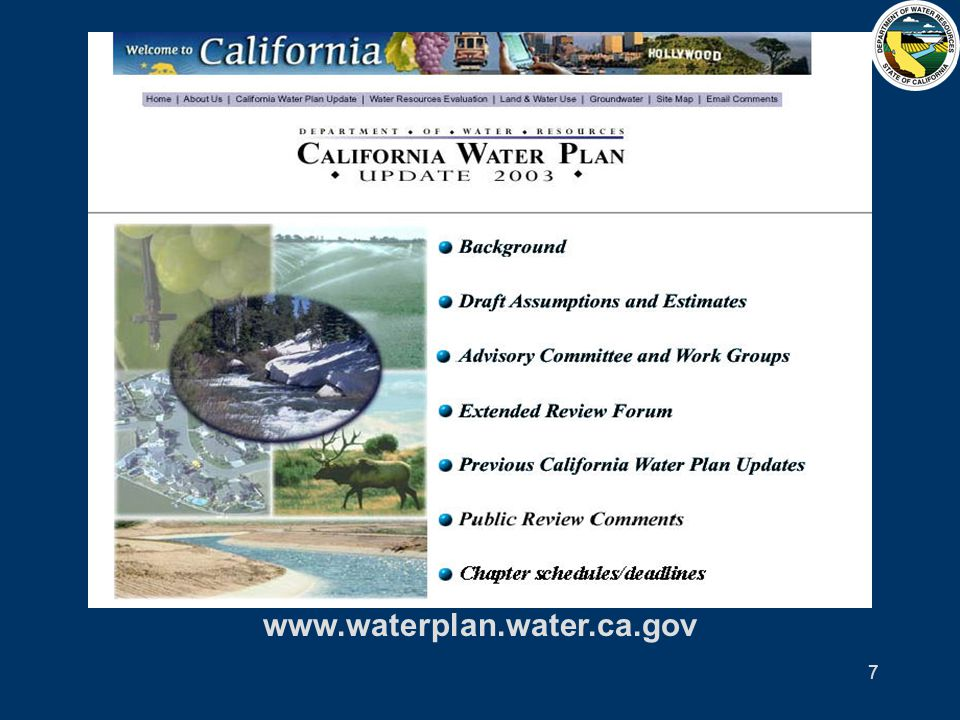 8 New Planning Framework 65-member Public Advisory Committee Water Portfolios using 1998, 2000, 2001 data Regional Reports reflecting regional challenges, goals, and planning efforts Multiple Scenarios to identify and plan for future uncertainties and risks Many Strategies to meet future water demands while sustaining our resources and economy