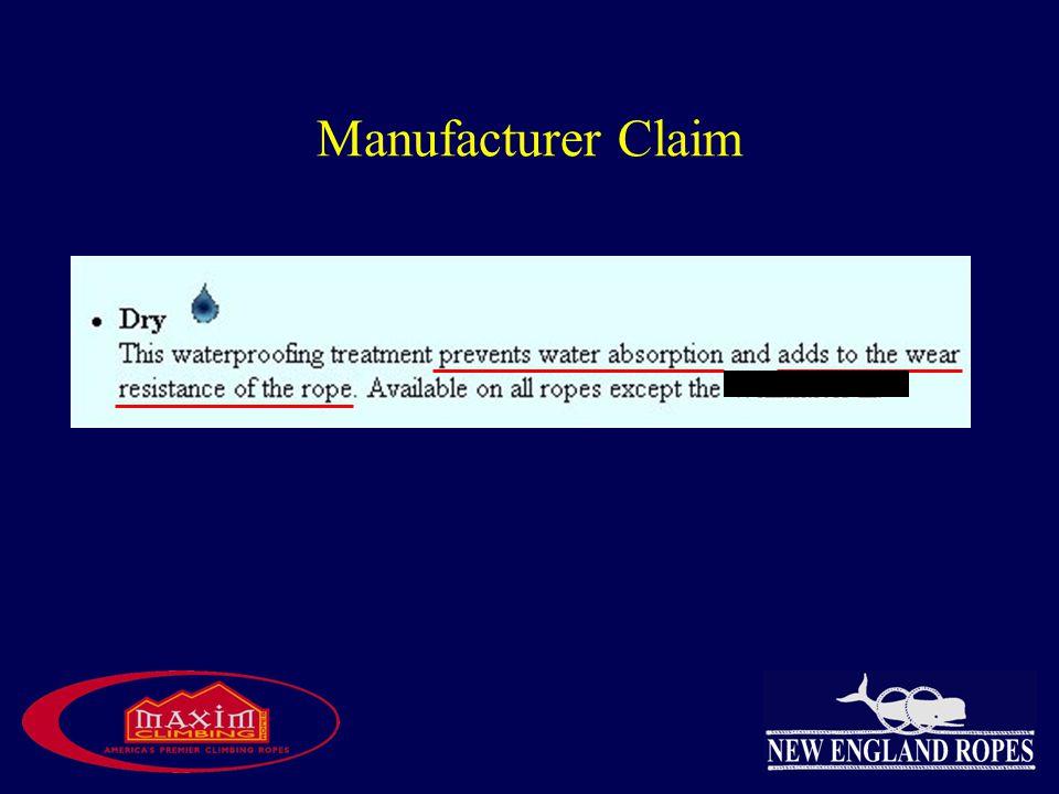 Manufacturer Claim