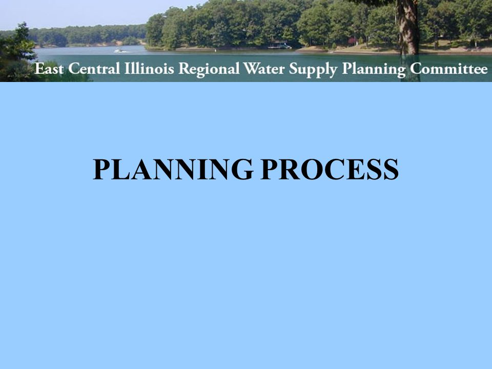 VISION East-Central Illinois will be a model for regional water supply planning and management.