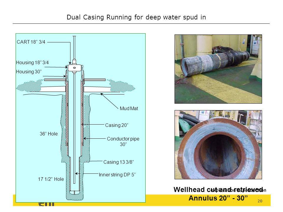 Dual Casing Running for deep water spud in 19