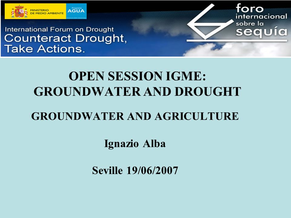 GROUNDWATER IN AGRICULTURE (1/4) (Lybia) In Libya, surface water resources are rather limited and contribute to less than 3% of the total water use for the different activities.