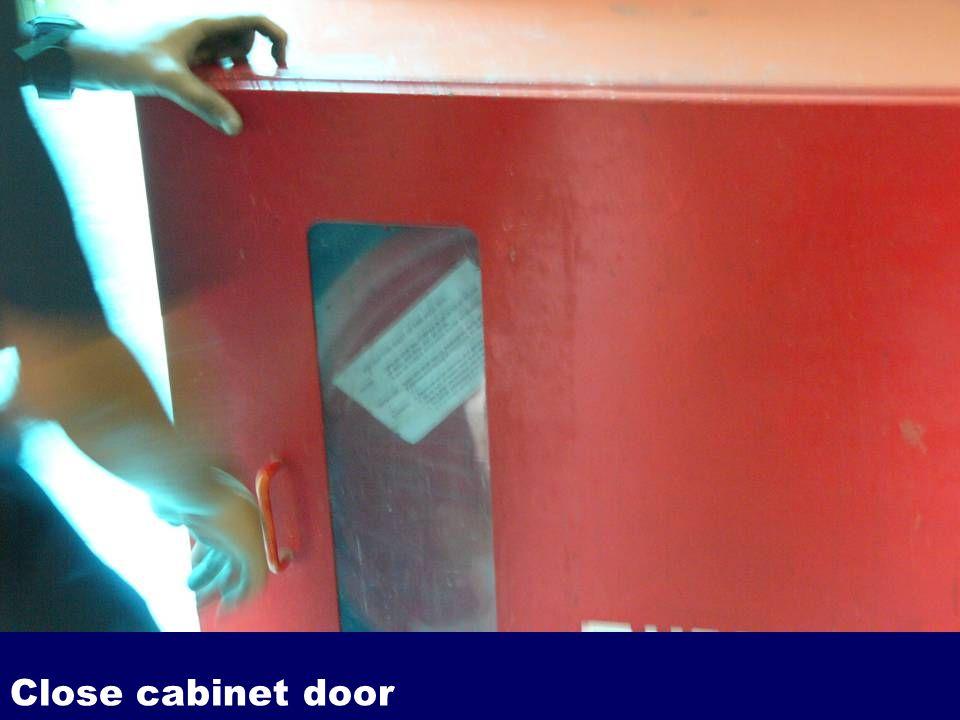 Close cabinet door