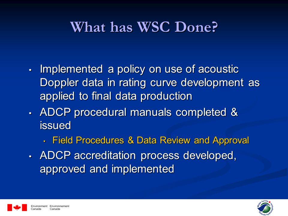 ADCP Procedures & Accreditation