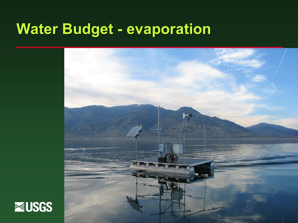 Water Budget - evaporation
