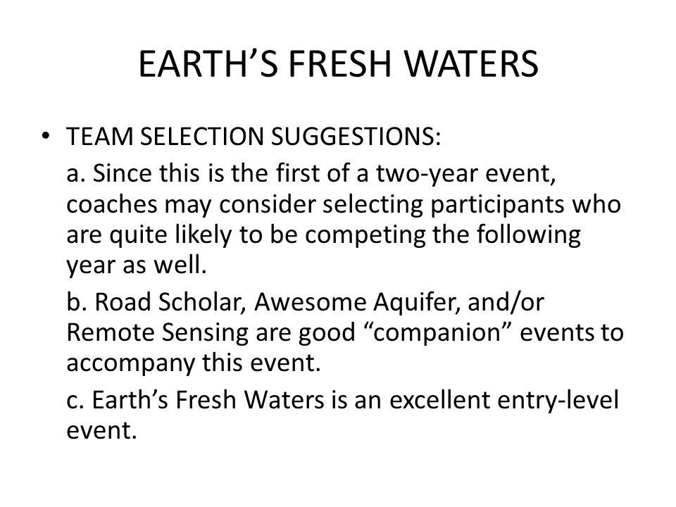 EARTHS FRESH WATERS 2.