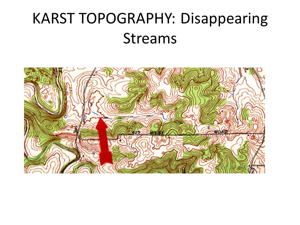 KARST TOPOGRAPHY: Disappearing Streams
