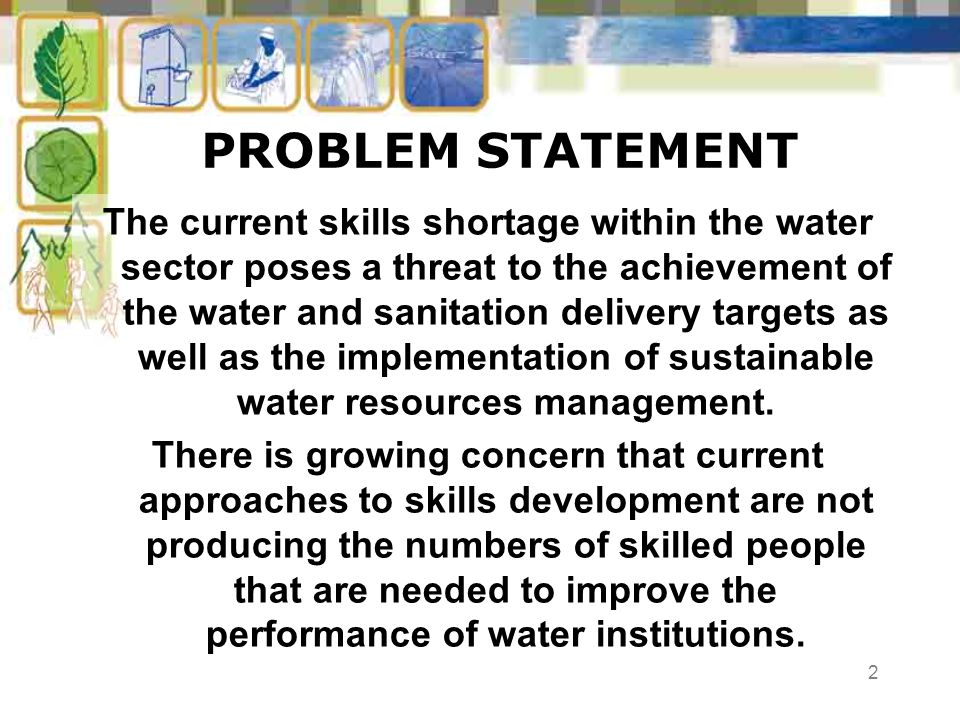 23 IN CONCLUSION (2) Enabling policies exist but implementation problematic and previous recommendations largely ignored; Municipalities with the lowest income base and highest backlogs are most affected; A mismatch exists between courses offered at tertiary level and actual skills requirements Water Learnership implementation severely compromised.