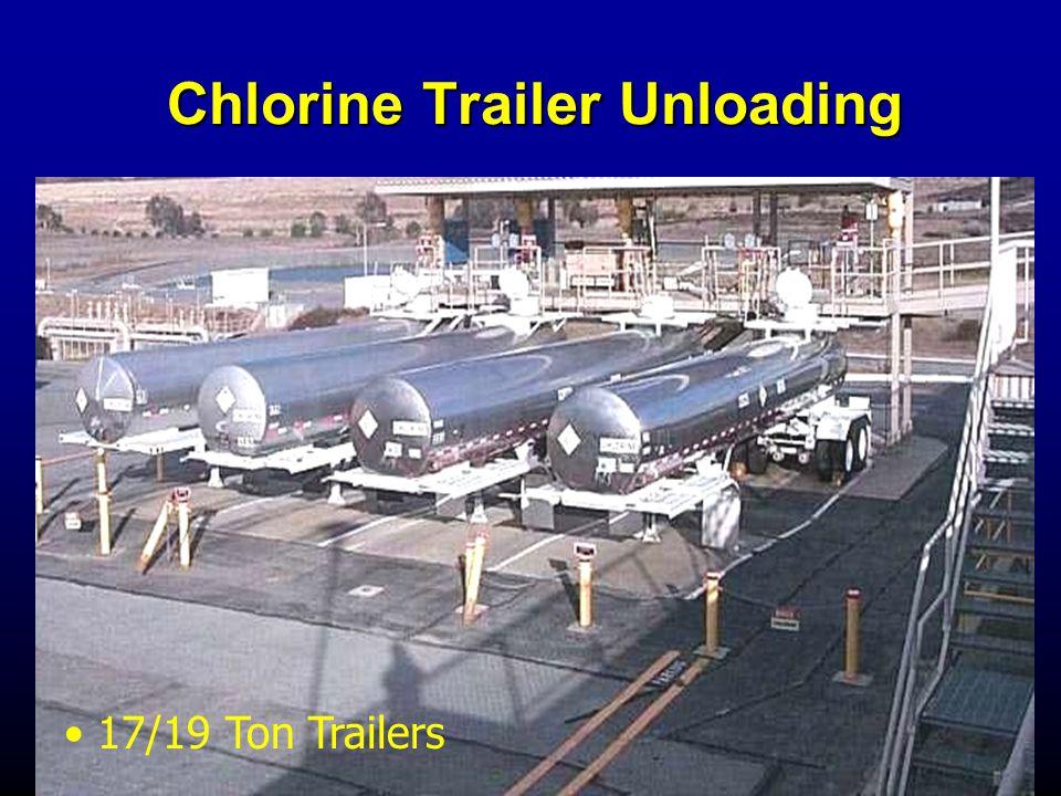 Chlorine Trailer Unloading 17/19 Ton Trailers