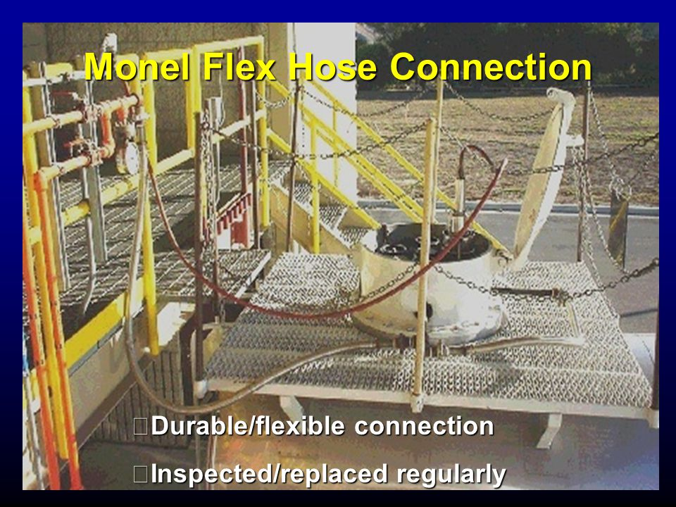 Monel Flex Hose Connection Durable/flexible connection Inspected/replaced regularly