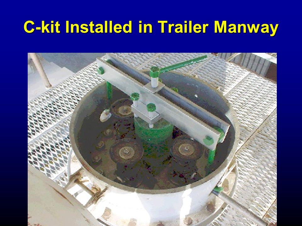 C-kit Installed in Trailer Manway