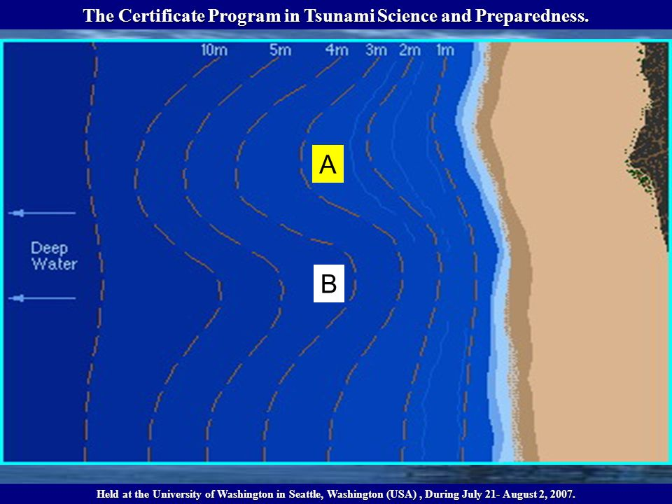 A B The Certificate Program in Tsunami Science and Preparedness.