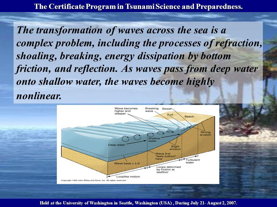 The Certificate Program in Tsunami Science and Preparedness.