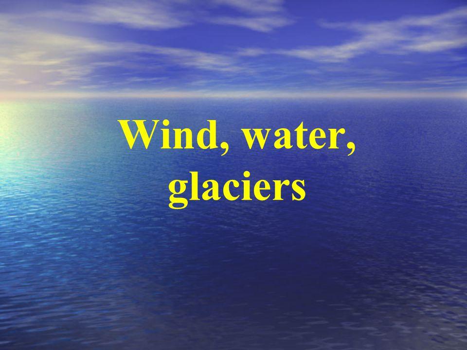 Wind, water, glaciers