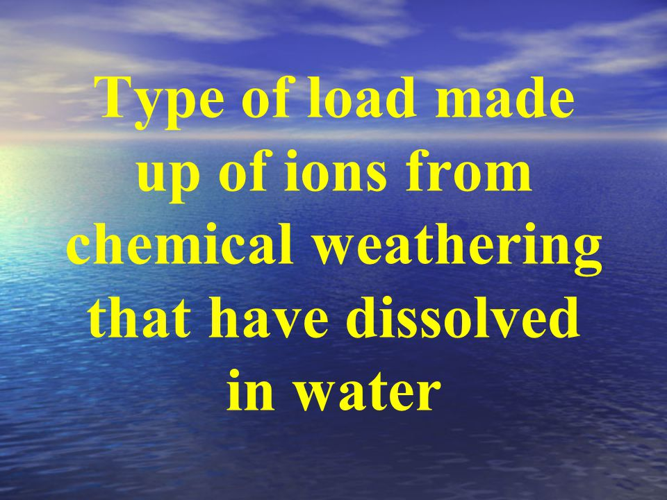 Type of load made up of ions from chemical weathering that have dissolved in water