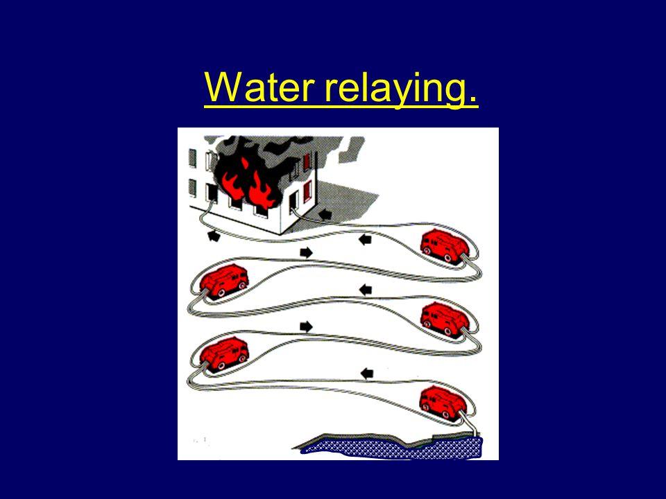 Water relaying.
