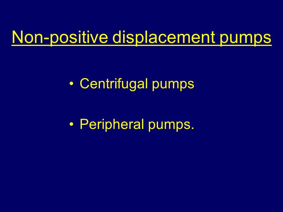 Non-positive displacement pumps Centrifugal pumps Peripheral pumps.