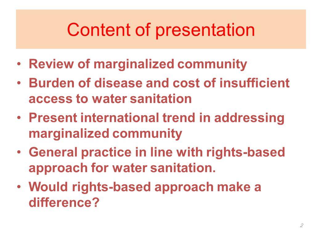 What is marginalization.