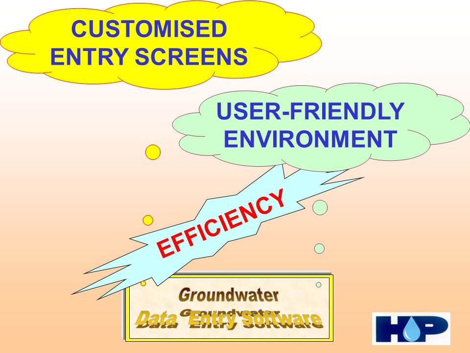 EFFICIENCY CUSTOMISED ENTRY SCREENS USER-FRIENDLY ENVIRONMENT