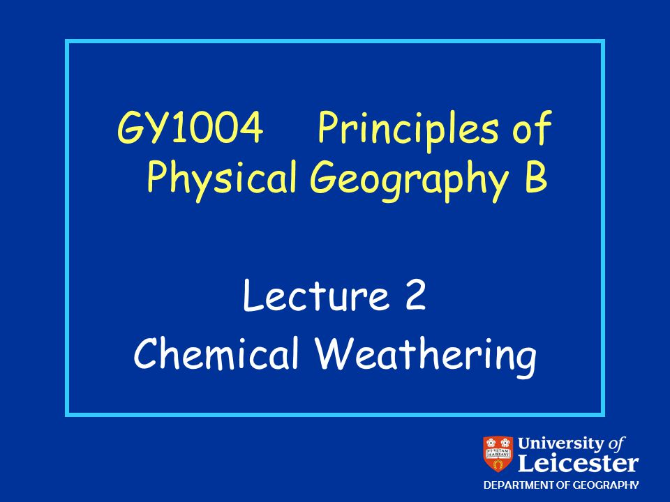 Chemical weathering Chemical weathering, therefore, reflects the tendency for new minerals to be formed which are stable under conditions prevailing at the Earths surface.