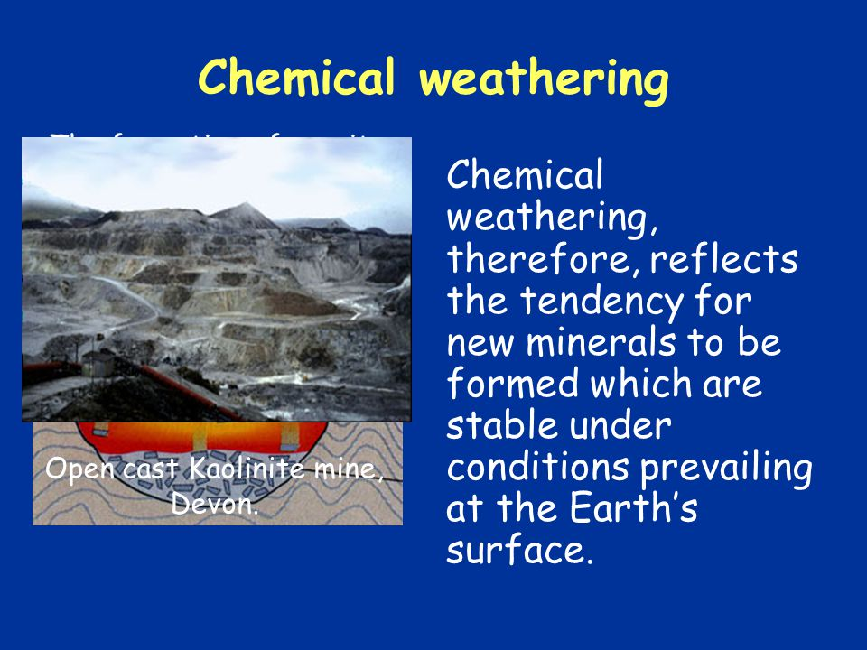 Chemical weathering processes 5 Organic processes e.g.