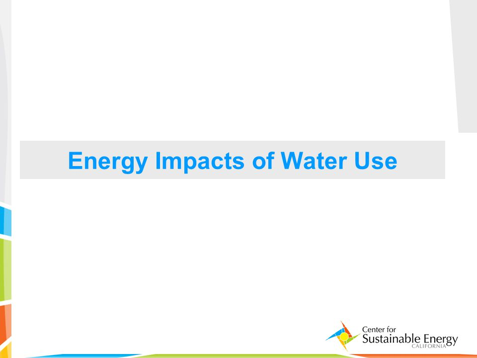 10 Energy Impacts of Water Use