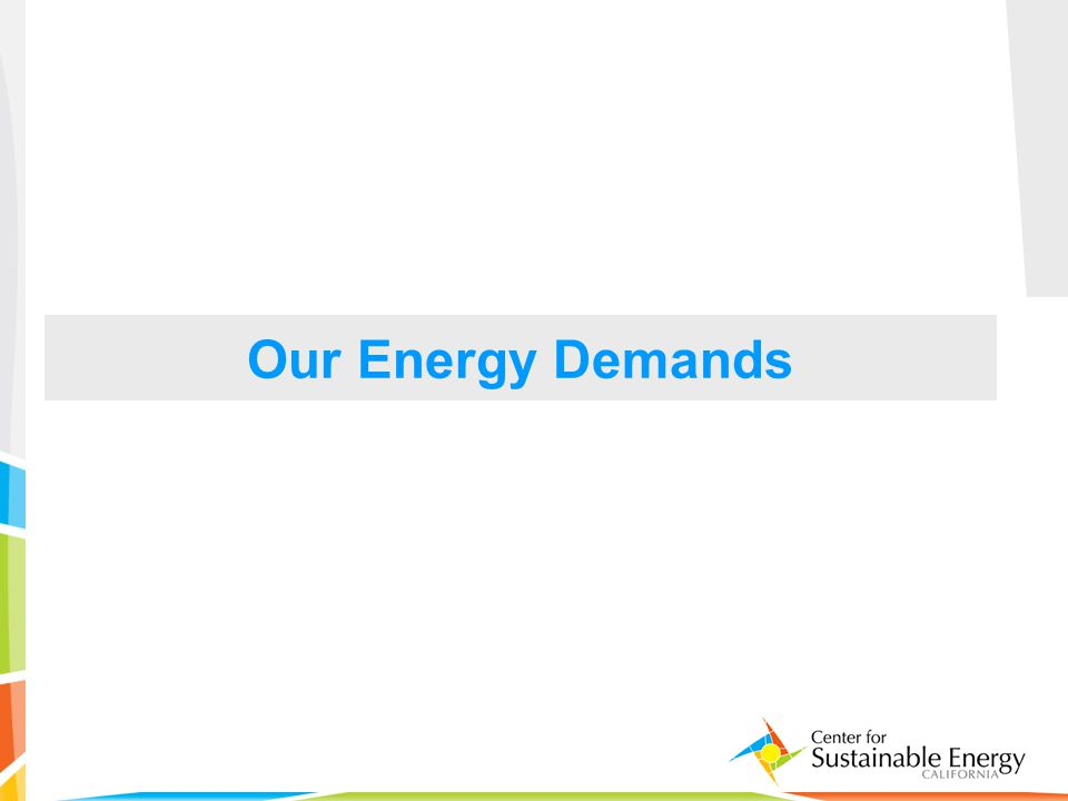 5 Our Energy Demands