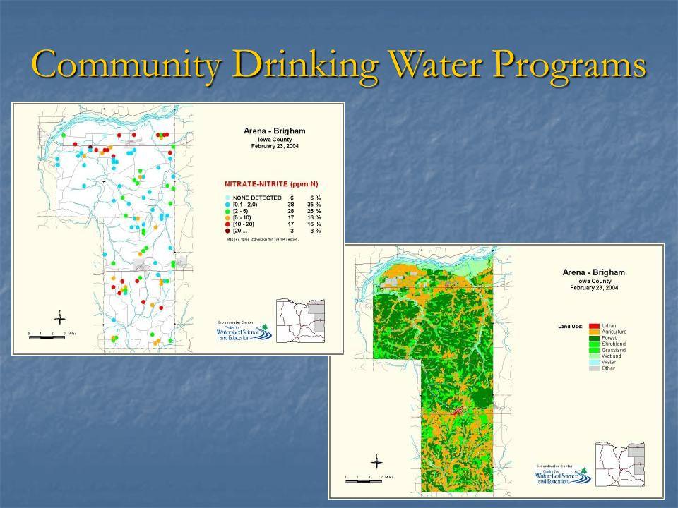 Community Drinking Water Programs