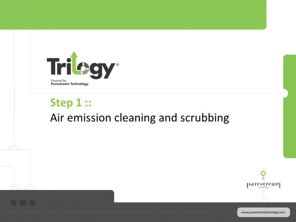 Step 1 :: Air emission cleaning and scrubbing