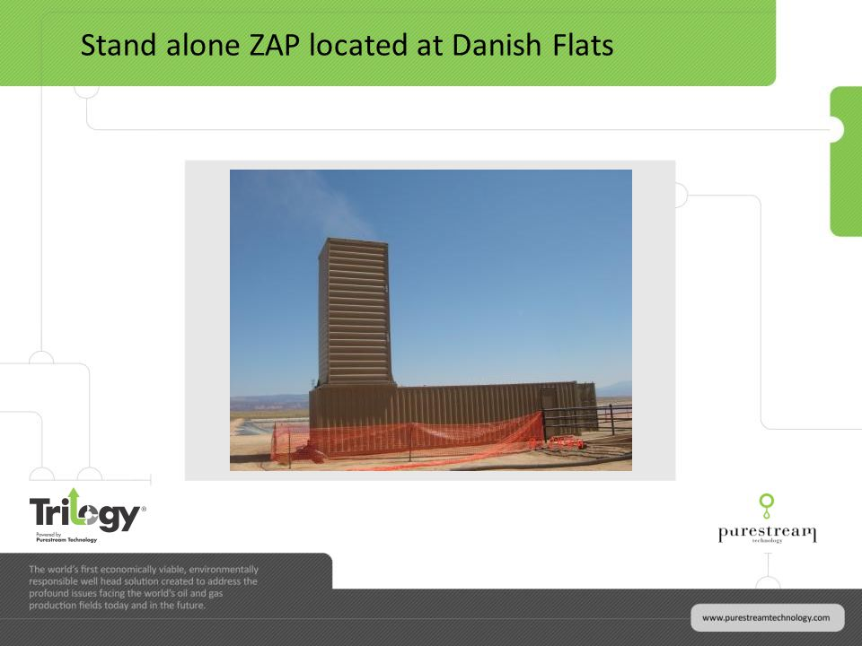 Stand alone ZAP located at Danish Flats
