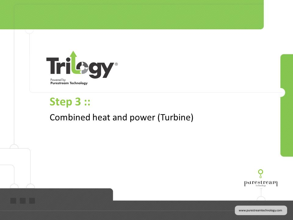 Step 3 :: Combined heat and power (Turbine)