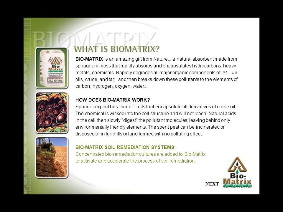 BIO-MATRIX is an amazing gift from Nature...