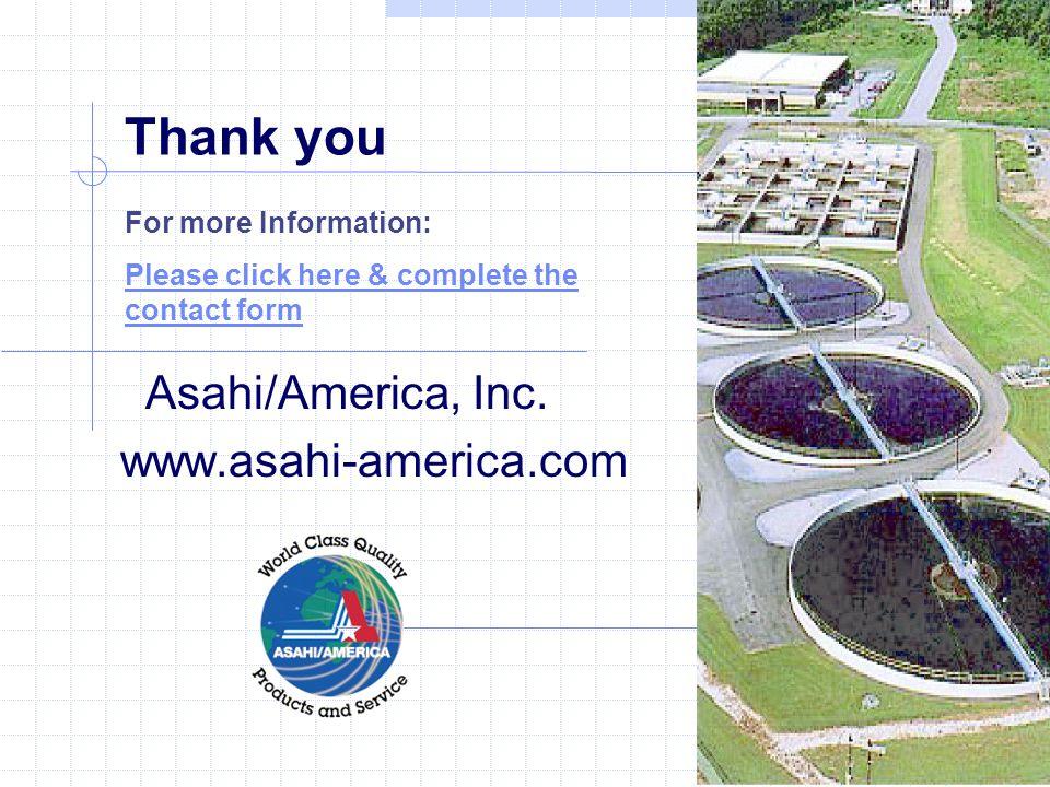 Thank you Asahi/America, Inc.