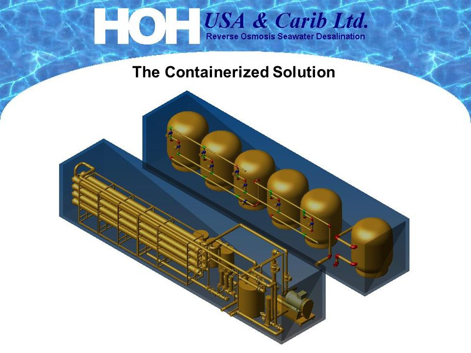 Containerized SWRO The Containerized Solution