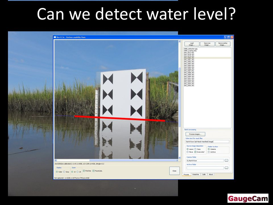Can we detect water level
